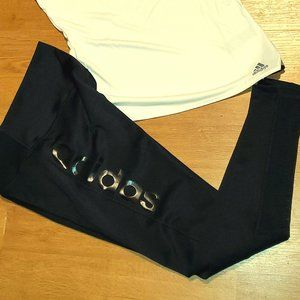 NWT Adidas Womens Climalite leggings only size med